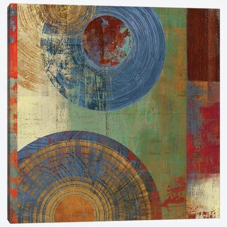 Oribis Blue On Green Canvas Print #PST538} by PI Studio Canvas Art