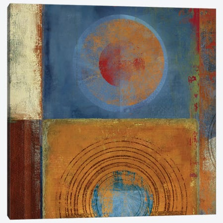 Oribis Orange And Blue Canvas Print #PST539} by PI Studio Canvas Artwork