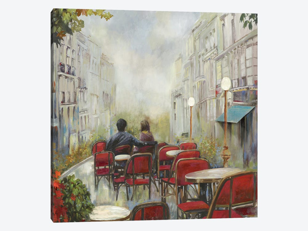 Paris Café 1-piece Canvas Artwork