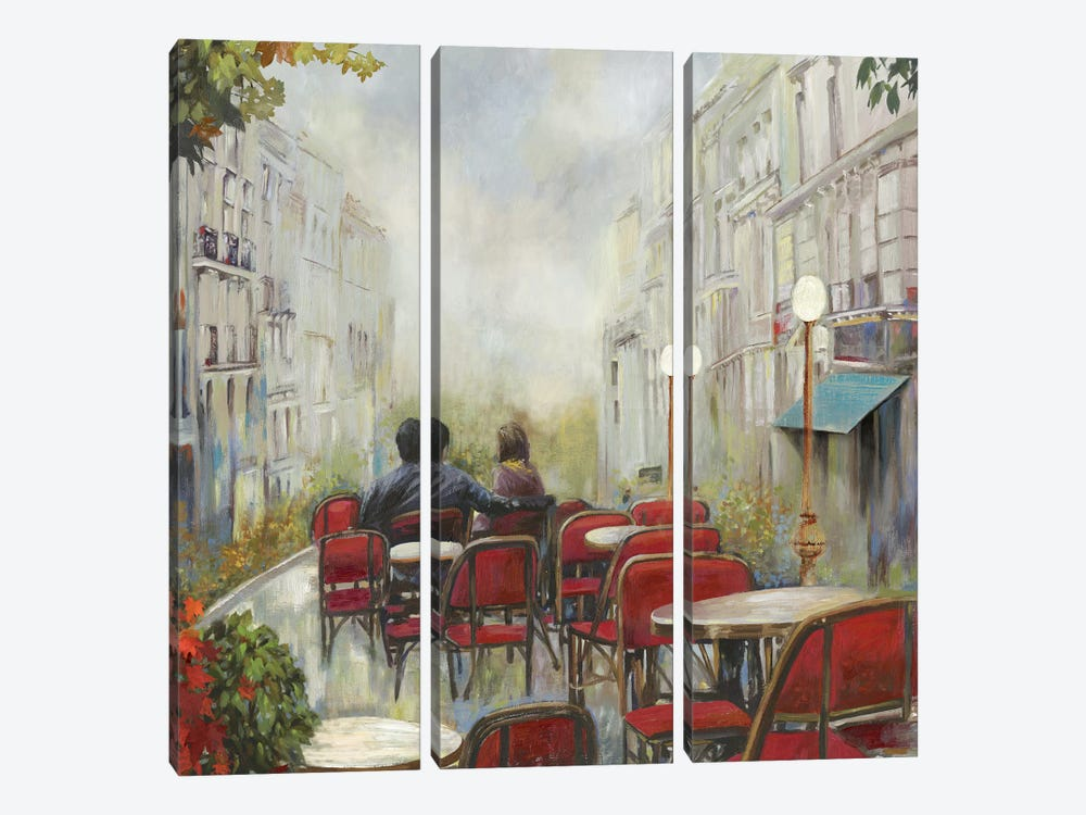Paris Café 3-piece Canvas Wall Art