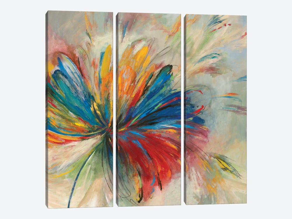 Passion Flower by PI Studio 3-piece Canvas Art Print