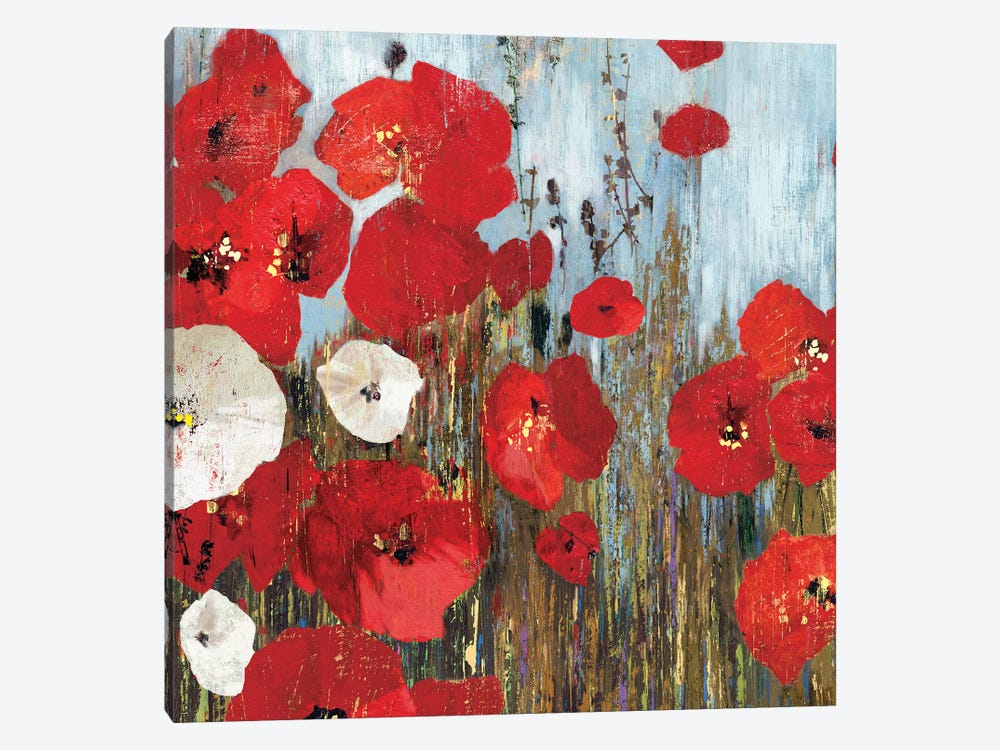 Passion Poppies I by PI Studio 1-piece Canvas Art