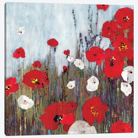 Passion Poppies II Canvas Print #PST565} by PI Studio Canvas Artwork