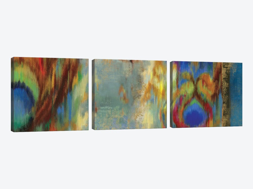 Peacock Abstract by PI Studio 3-piece Canvas Artwork