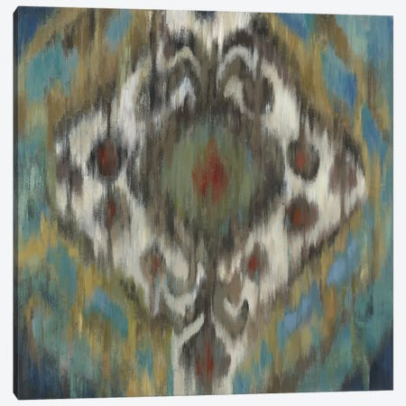 Peacock Ikat Canvas Print #PST574} by PI Studio Art Print