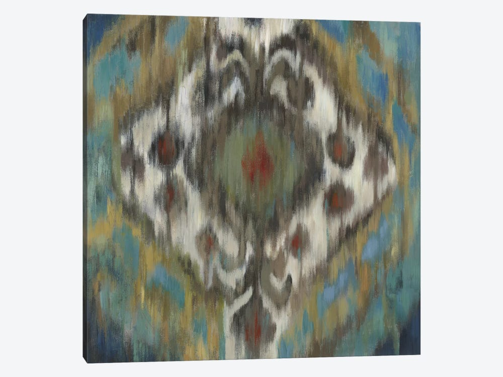 Peacock Ikat by PI Studio 1-piece Canvas Print