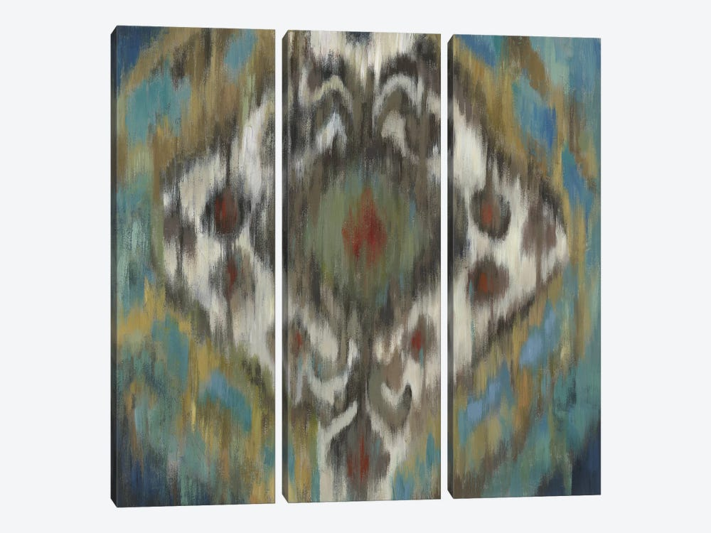 Peacock Ikat by PI Studio 3-piece Art Print