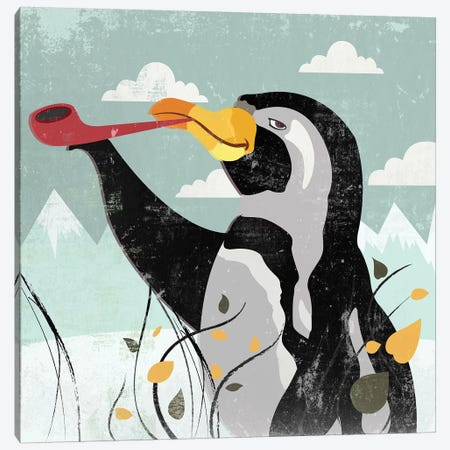Penguin Stroll Canvas Print #PST577} by PI Studio Art Print