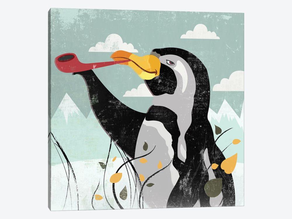 Penguin Stroll by PI Studio 1-piece Canvas Wall Art