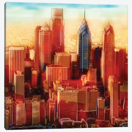 Philadelphia Skyline Canvas Print #PST584} by PI Studio Canvas Art