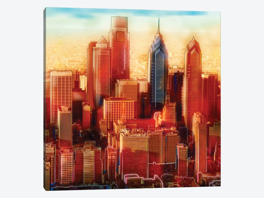 Philadelphia Skyline by PI Studio 1-piece Canvas Artwork