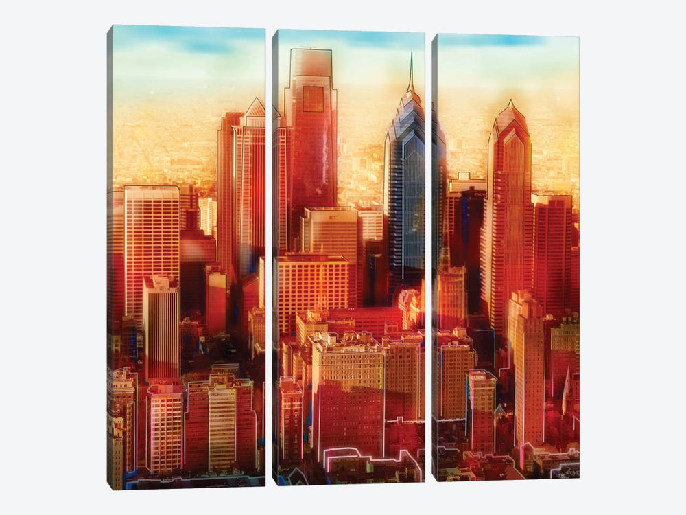 Philadelphia Skyline by PI Studio 3-piece Canvas Wall Art