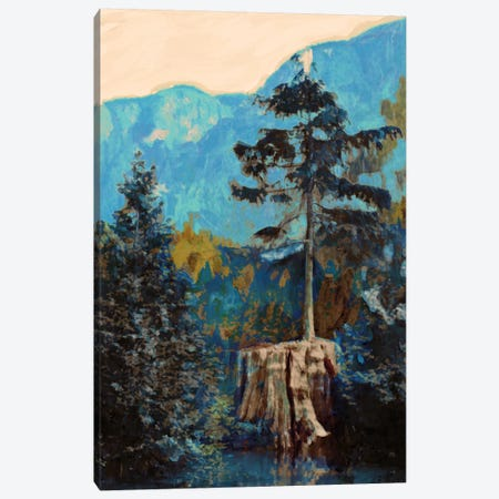 Pine On Blue Canvas Print #PST585} by PI Studio Canvas Wall Art