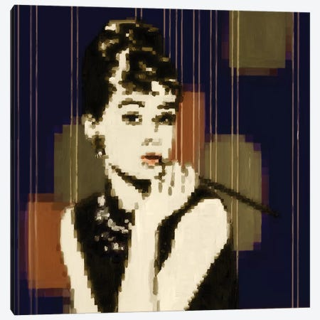 Pixeled Hepburn Canvas Print #PST588} by PI Studio Canvas Art Print