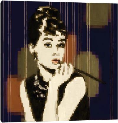 Pixeled Hepburn Canvas Art Print