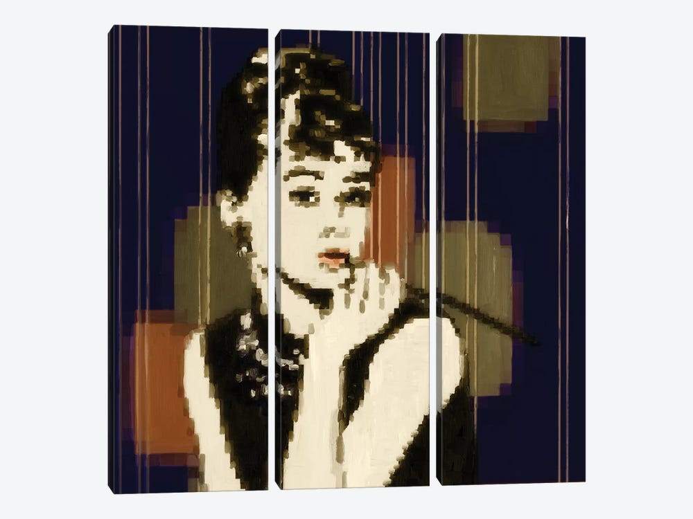 Pixeled Hepburn by PI Studio 3-piece Canvas Artwork