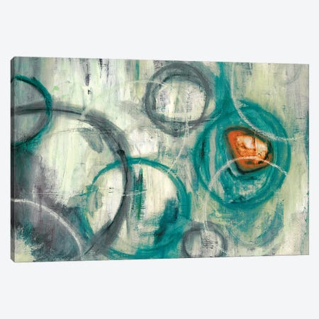 Auspicious Teal Canvas Print #PST58} by PI Studio Art Print
