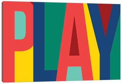 Play Canvas Art Print