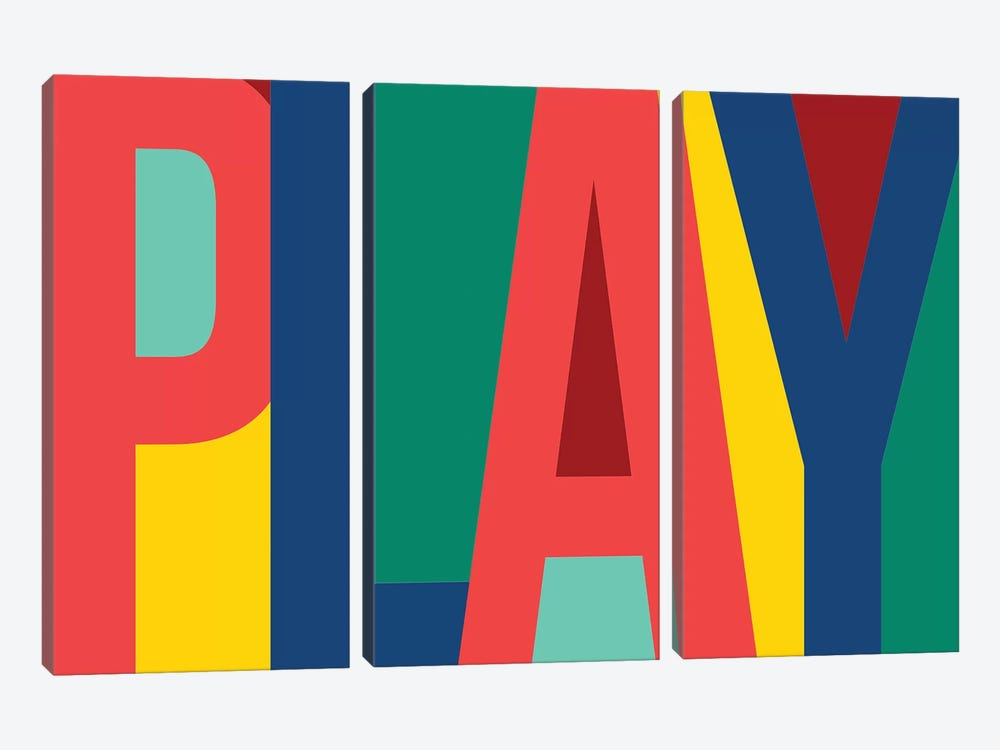 Play by PI Studio 3-piece Canvas Print