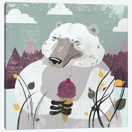 Polar Bear Canvas Print #PST595} by PI Studio Canvas Art Print