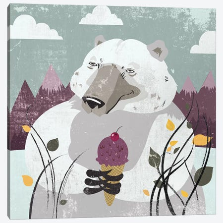 Polar Bear Canvas Print #PST595} by PI Studio Canvas Art Print