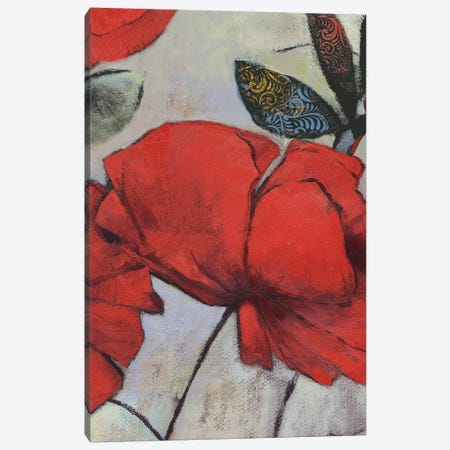 Red Poppy I Canvas Print #PST616} by PI Studio Canvas Wall Art