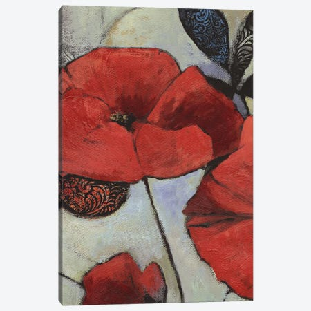 Red Poppy II Canvas Print #PST617} by PI Studio Canvas Wall Art