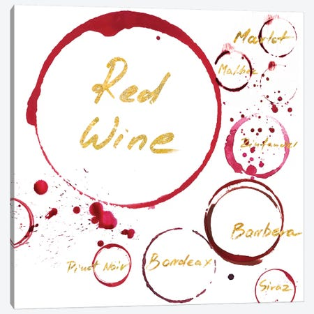 Red Wine Canvas Print #PST619} by PI Studio Art Print