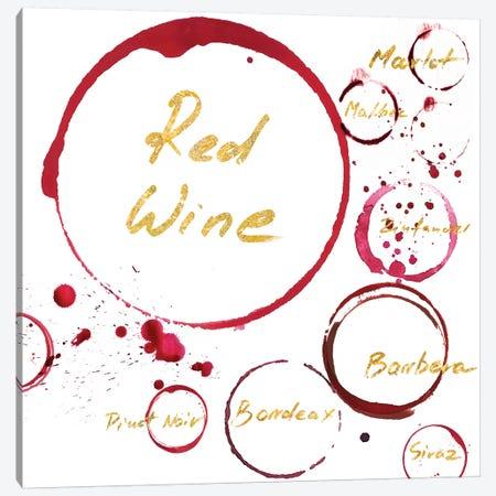 Red Wine Canvas Print #PST619} by PI Studio Art Print