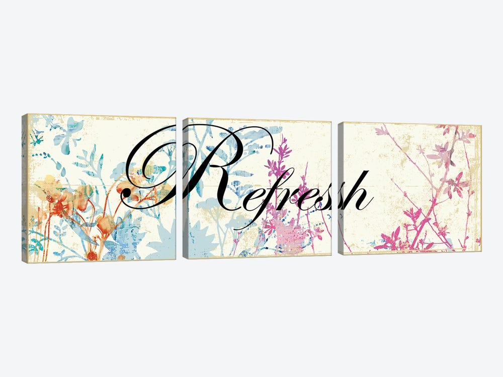 Refresh Wildflowers 3-piece Canvas Art Print