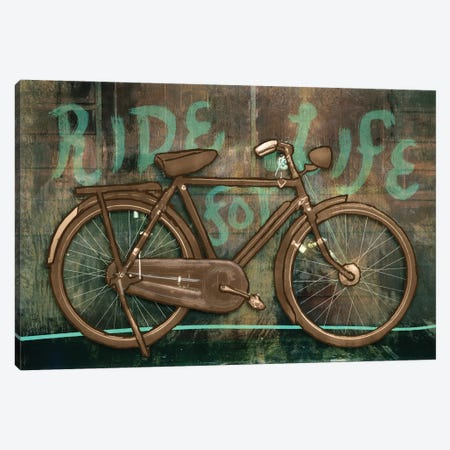 Ride For Life Canvas Print #PST630} by PI Studio Art Print