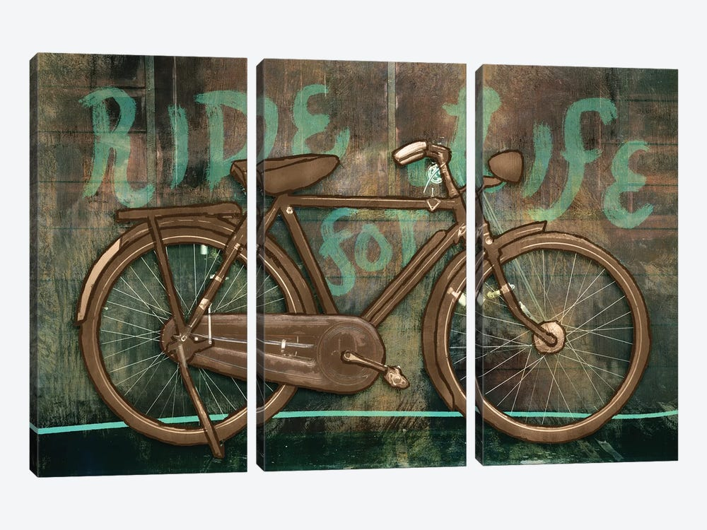 Ride For Life by PI Studio 3-piece Canvas Art Print