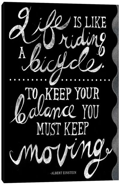 Riding A Bicycle Canvas Art Print