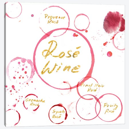 Rose Wine Canvas Print #PST642} by PI Studio Canvas Art