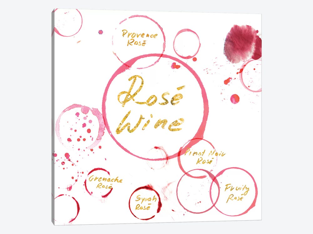 Rose Wine by PI Studio 1-piece Canvas Wall Art