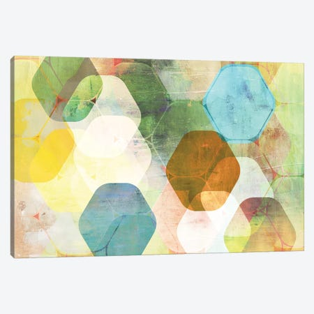 Rounded Hexagon I Canvas Print #PST645} by PI Studio Canvas Print