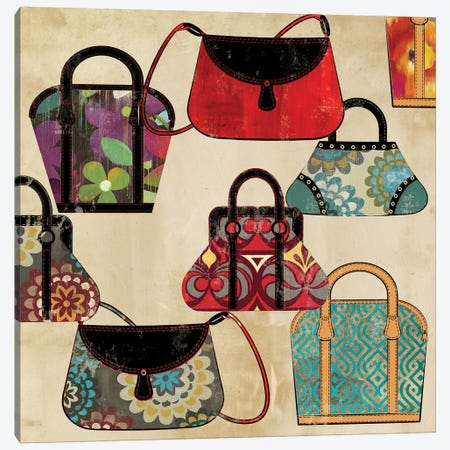 Bag Pattern Canvas Print #PST65} by PI Studio Art Print
