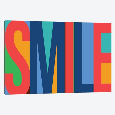 Smile Canvas Print #PST683} by PI Studio Canvas Art