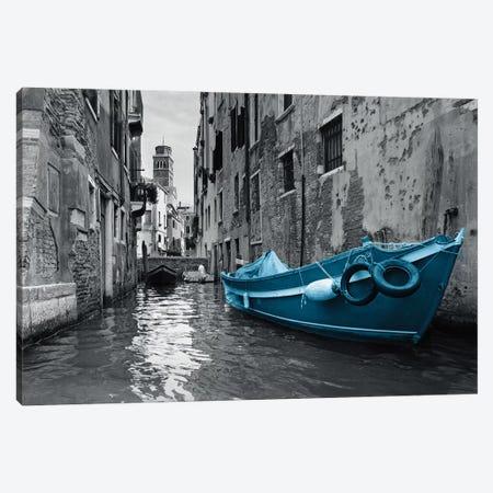 Barca Blue Canvas Print #PST68} by PI Studio Canvas Artwork