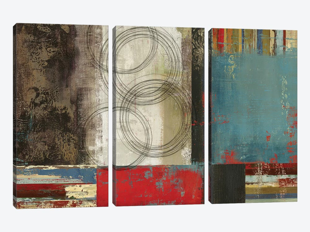 Spheres And Stripes by PI Studio 3-piece Art Print