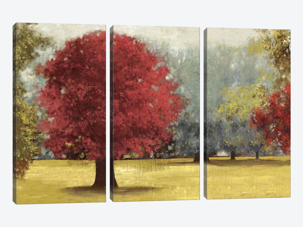 Summer Days, Red by PI Studio 3-piece Canvas Wall Art