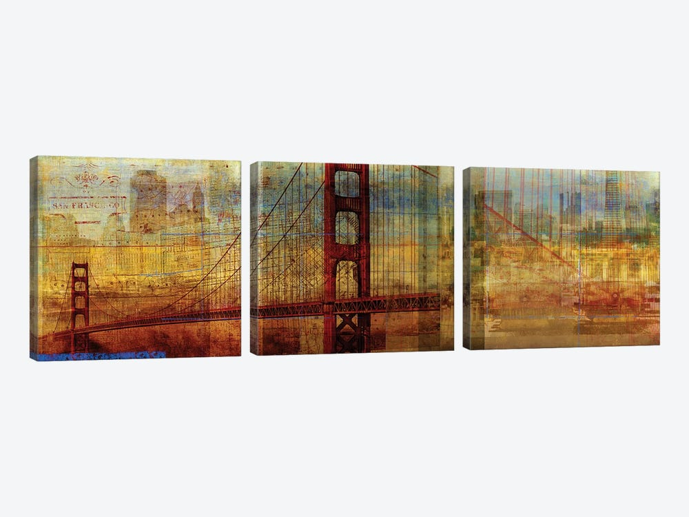 Sunset Bridge by PI Studio 3-piece Canvas Wall Art