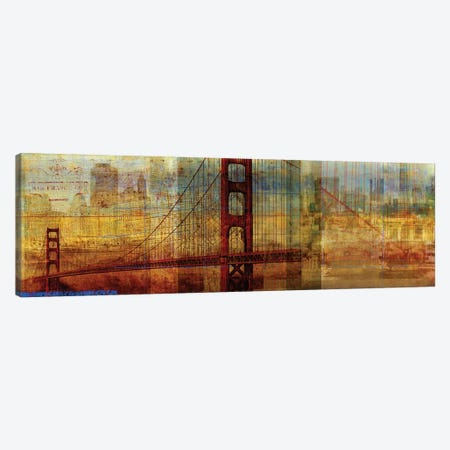 Sunset Bridge Canvas Print #PST727} by PI Studio Canvas Artwork