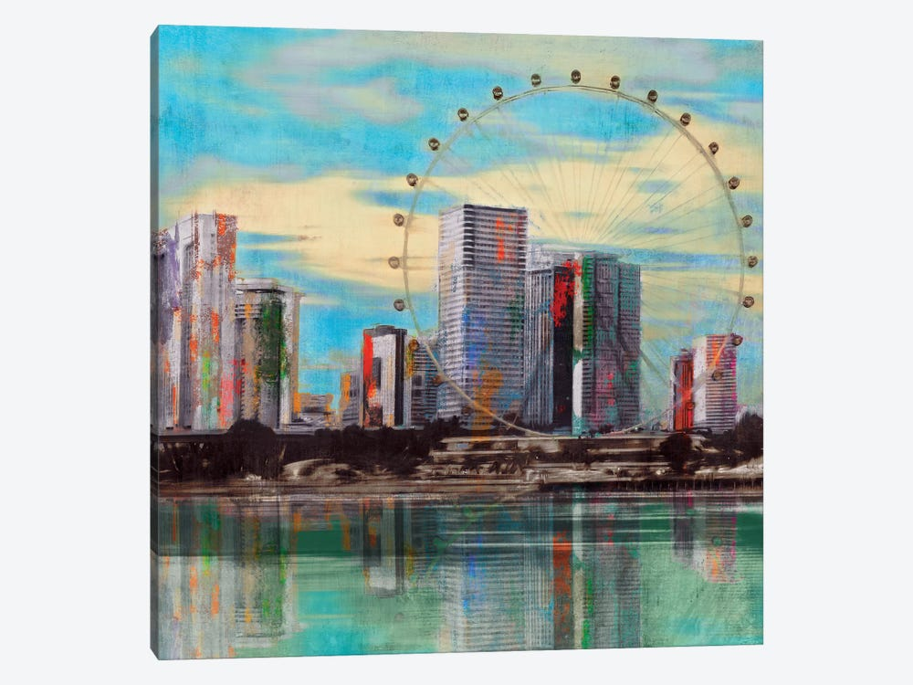 Sunset Roundabout by PI Studio 1-piece Canvas Art Print