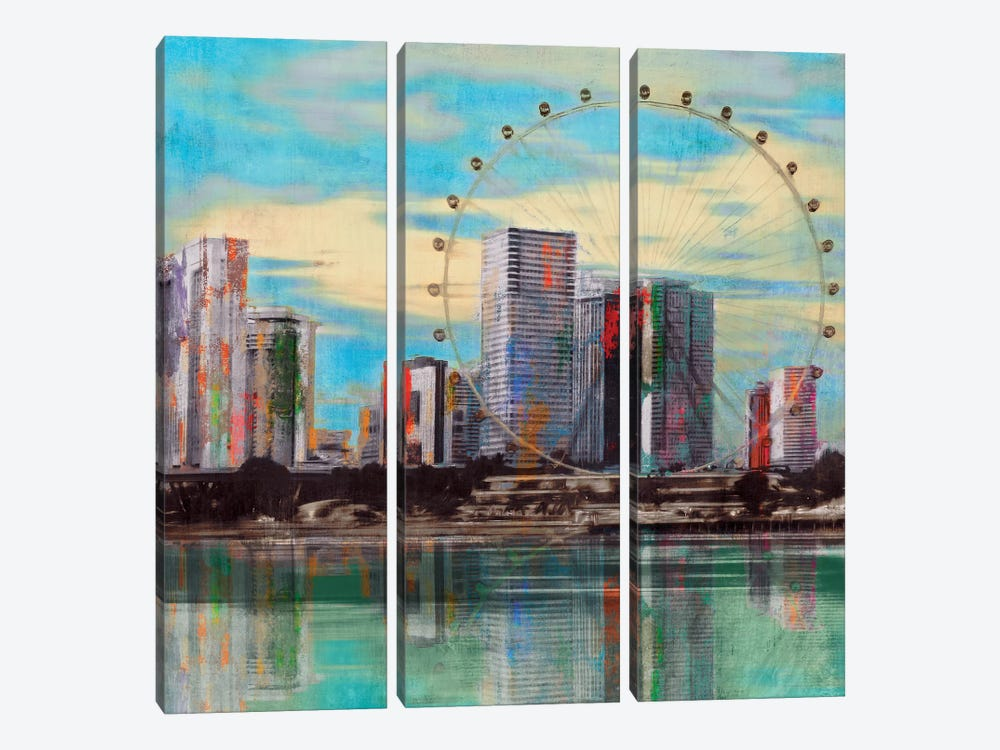 Sunset Roundabout by PI Studio 3-piece Canvas Print