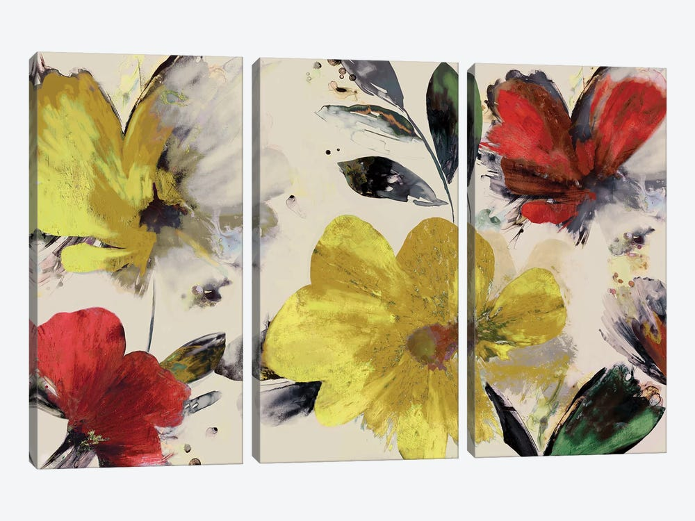 Sweet Blooms by PI Studio 3-piece Canvas Art