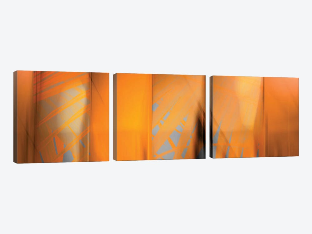 Tangerine On Grey by PI Studio 3-piece Canvas Wall Art