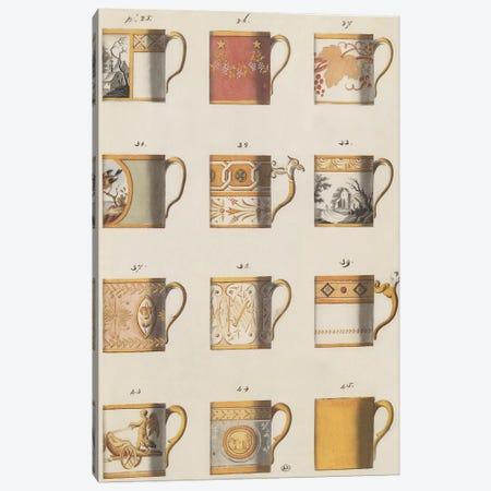 Teacups I Canvas Print #PST747} by PI Studio Canvas Artwork