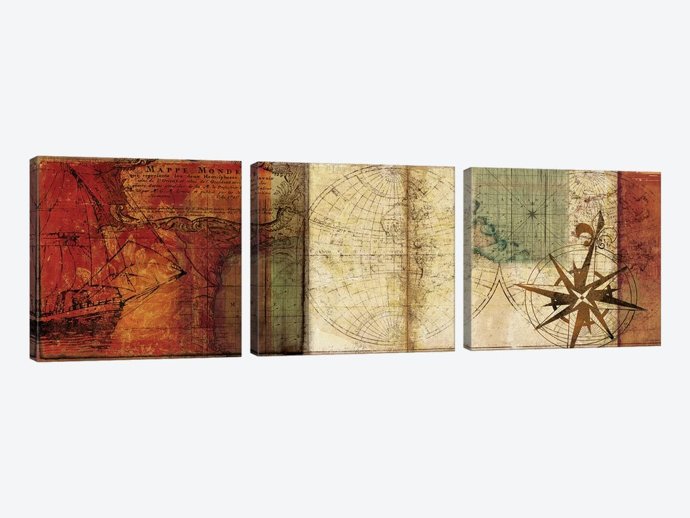 Travels II 3-piece Canvas Art