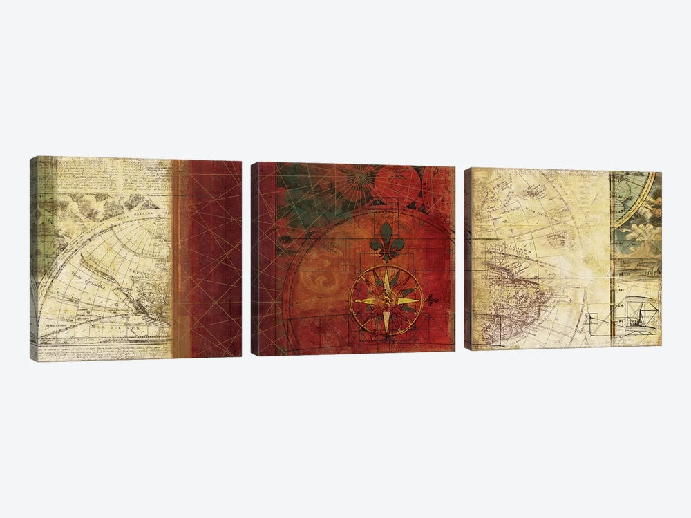 Travels III by PI Studio 3-piece Canvas Art Print